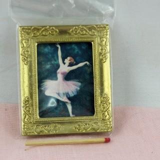 Tableau miniature danseuse Degas maison de poupée