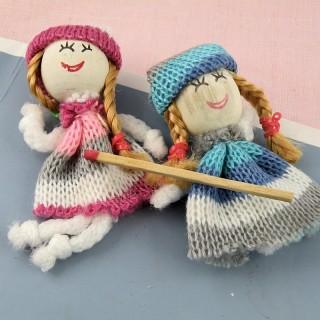 Rag doll miniature for dollhouse