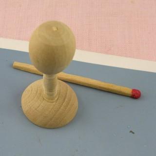 Présentoir Chapeau en bois miniature maison poupée