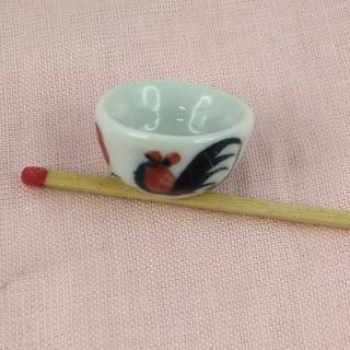 Corte chino en porcelana miniatura casa muñeca,