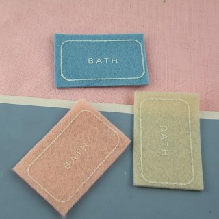 Miniature carpet of bath dollhouse