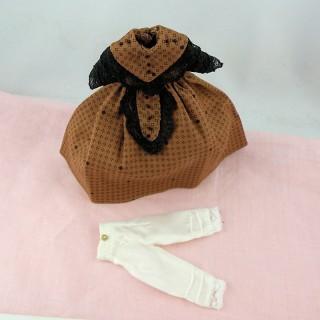 Robe 1900 poupée 1/12 habits miniatures poupée maison 1/12eme