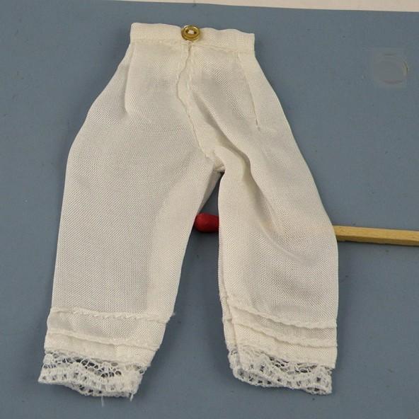 Pantalon Dessous femme miniature maison poupée 1/12eme