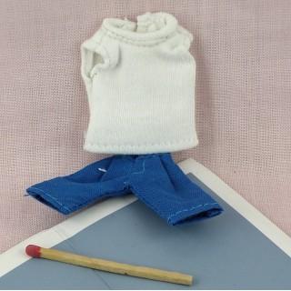 Pantalones y jersey para muñeca vestidos miniaturas muñeca 1 / 12eme