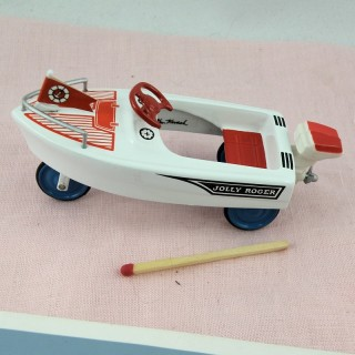 Miniature pedal boat for dollhouse 10 cms