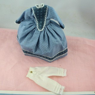 1900 Outfit miniature doll 1 / 12eme dress hat