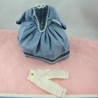 Vestido 1900 de muñeca 1/12 ropas miniatura muñeca casa 1/12ème