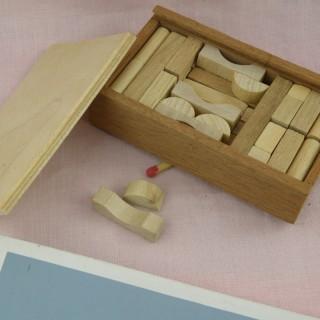 Juguete miniatura casa muñeca anillos madera