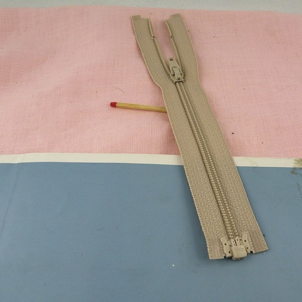 Separating Tiny zipper for doll 15 cms