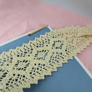 Rustical cotton lace trim 50 mms