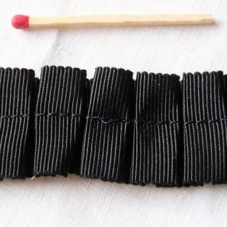 Galon gros-grain plis creux 3 cm au mètre