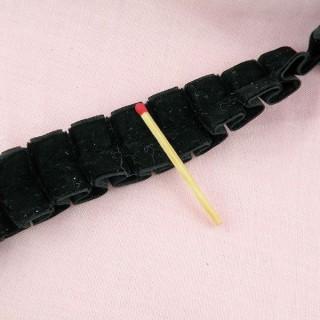 Galon ruban velours plis creux 3 cm au mètre