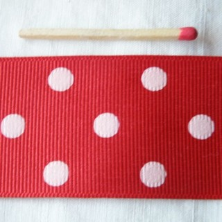 Grosgrain dots ribbon 25 mm