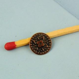 Dije moneda en metal 1 cm.