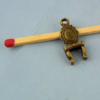 Bracelet charm chair pendant, miniature, 2 cms