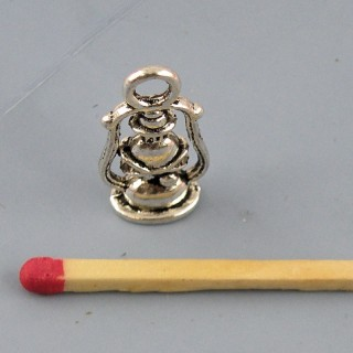Breloque Lampe tempête miniature métal 2 cm