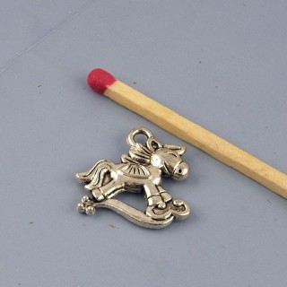 Pendant, charm, Rocking horse miniature, 1 cm.