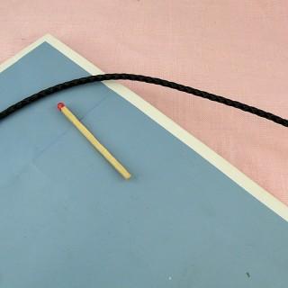 Cordon Fil de cuir tressé 3 mm