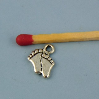 Breloque pieds nus miniature 1 cm