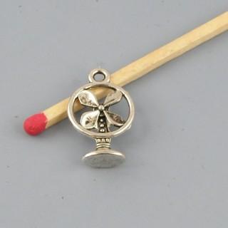 Breloque ventilateur miniature métal 2 cm
