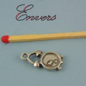 Watch metal pendant bracelet charm clock