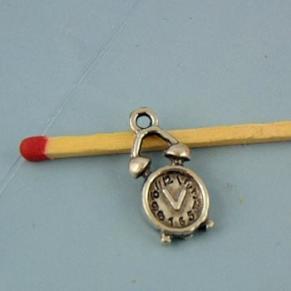 Watch metal pendant bracelet charm clock