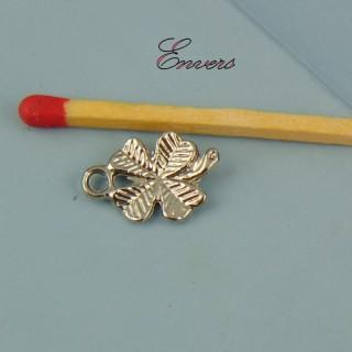 Breloque trèfle quatre feuilles 15 mm