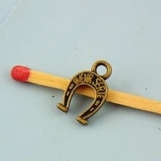Dije herradura caballo miniatura 1 cm