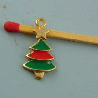 Dije árbol de Navidad esmaltado miniatura