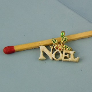 Charm miniature Word NOEL Christmas enamelled