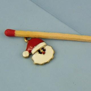 Dije Père Noël esmaltado miniatura