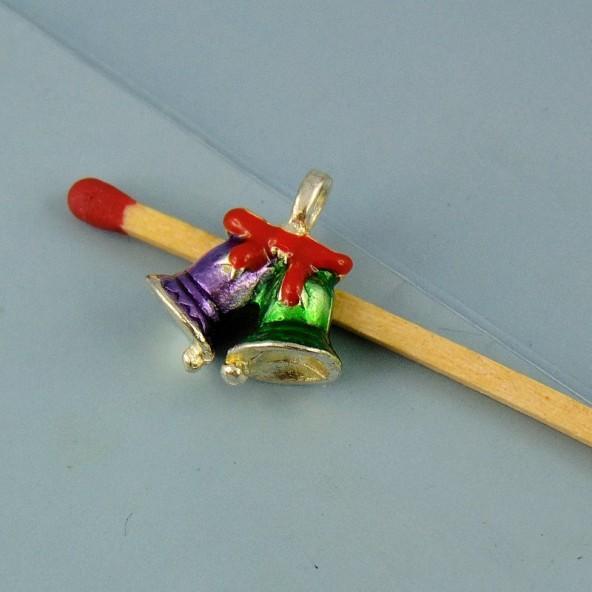 Breloque Clochette décorative émaillée miniature