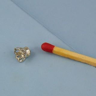 Casquillas filigrana6 mm Plateado