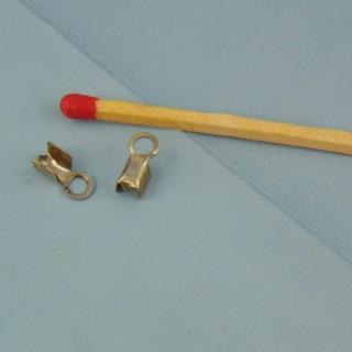 Runde Endkappe Klemme Befestigung MiniaturSohn Schmuckappretur 7 mm.