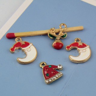 Set of enamelled Charms Christmas