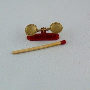 Miniature two plates scale kitchen doll miniature