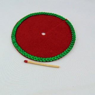 Tapis jupe sapin de Noël 10 cm