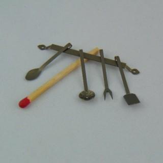 Arbeitsgerätestange kocht Miniatur Puppenhaus