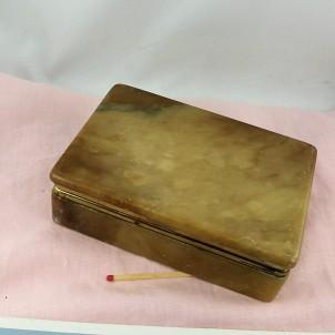 Boite ancienne en Onyx pour cigarettes 13 cm