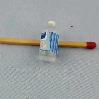 Bouteille de vinaigre blanc miniature maison poupée