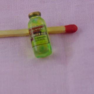 Botella zumo de manzana miniatura casa muñeca