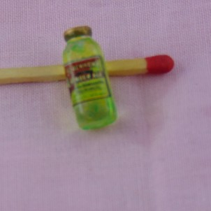 Quart orange juice with glass doll house miniature,