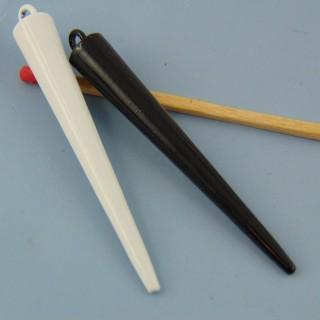Breloque pique cône métal 5 cm