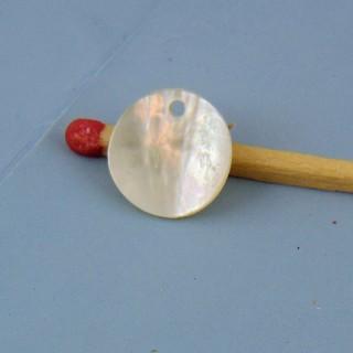 Plättchen aus Perlmutt 1 cm