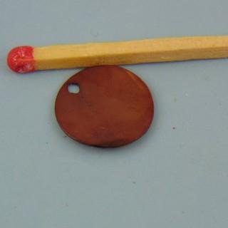 Madre de la perla plano braune 12 mm