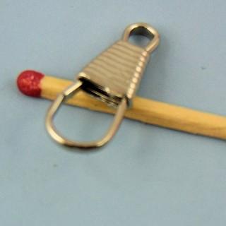 Mousqueton métal miniature 2 cm