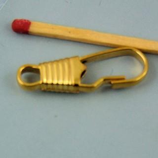 Mosquetón metal miniatura 2 cm