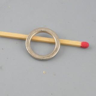 Anneau fermé plat pour fabrication bijou 17 mm