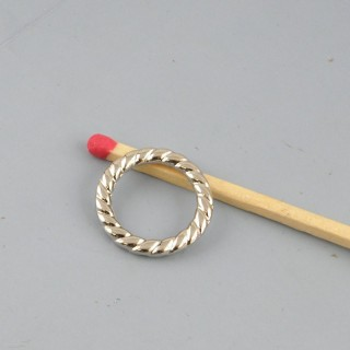 Jump ring closed for jewel manufacturing 16 mm