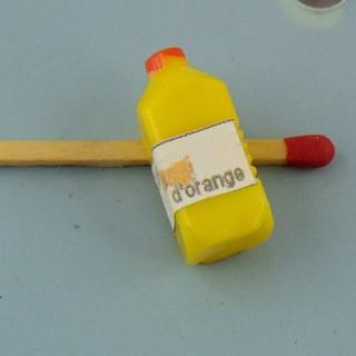 Botella zumo de najenra miniatura casa muñeca 25 mm